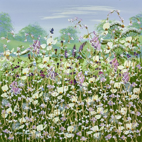 Wild Flowers In Bloom II by Mary Shaw - Original Painting on Board